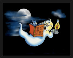 Ghost Reading Spooky Stories