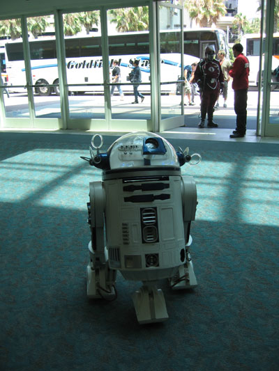 A fully functional R2D2, beeps and all
