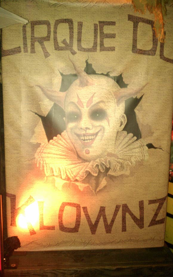 Clown area of Universal Horror Nights