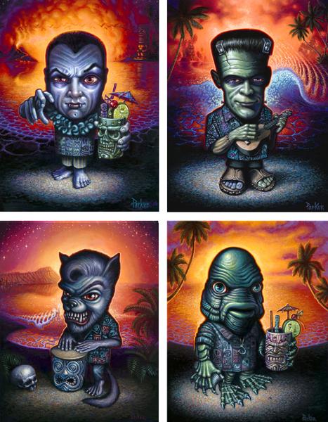 Brad Parker Tiki Art