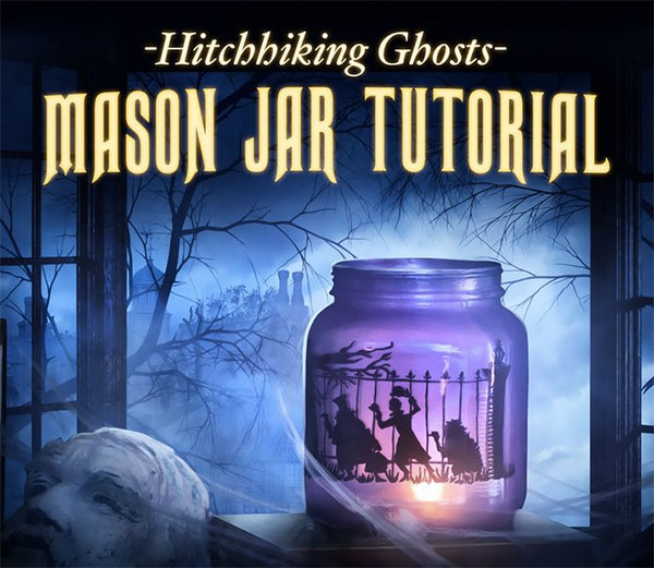 Disney Hitchhiking Ghosts Mason Jar Tutorial