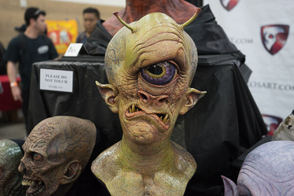 Alien Mask at Monsterpalooza 2016 Pasadena