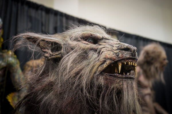 Werewolf Mask at Monsterpalooza 2016 Pasadena