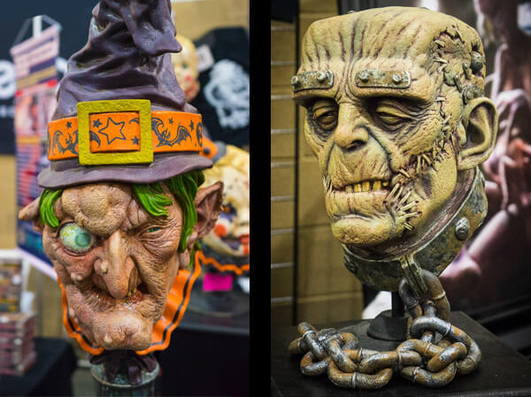 Witch and Frankenstein Bust at Monsterpalooza 2016 Pasadena