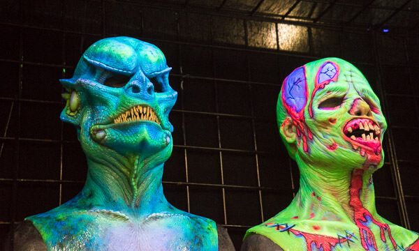 Toxic Alien Masks at Monsterpalooza 2016 Pasadena