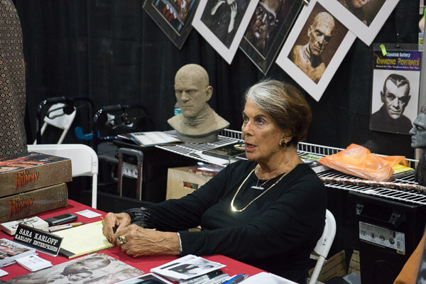 Sara Karloff at Monsterpalooza 2016 Pasadena