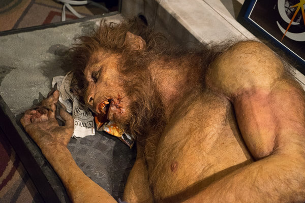 Sleeping Werewolf Display at Monsterpalooza 2016 Pasadena