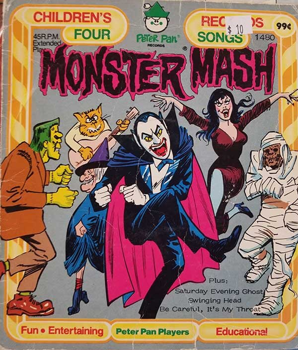 Monster Mash vintage record book