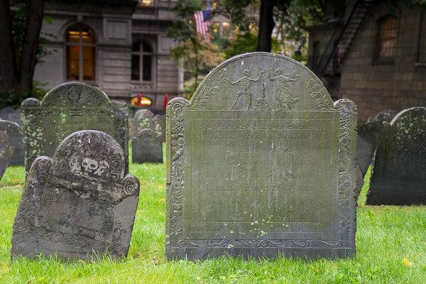 Gravestones from The Granary Burying Ground