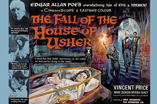 House of Usher starred Vincent Price and Mark Damon
