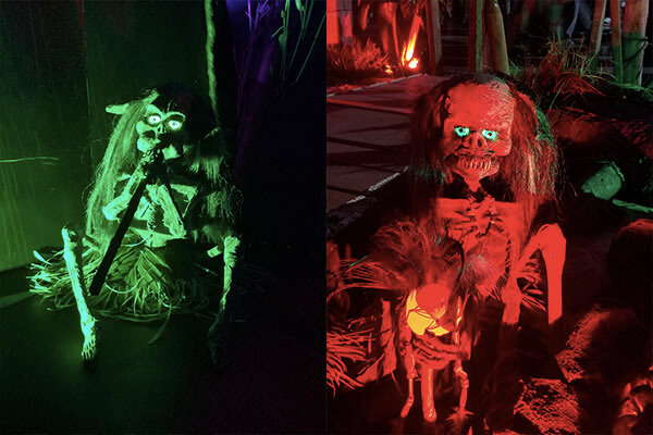 CalHaunts tiki display Midsummer Scream