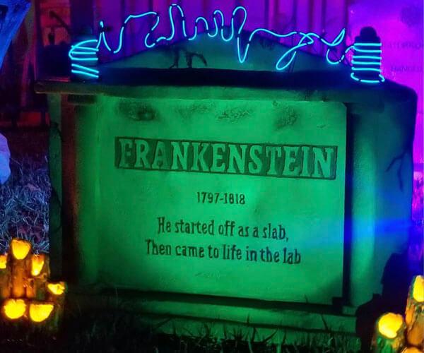 Frankenstein DIY tombstone for 2020