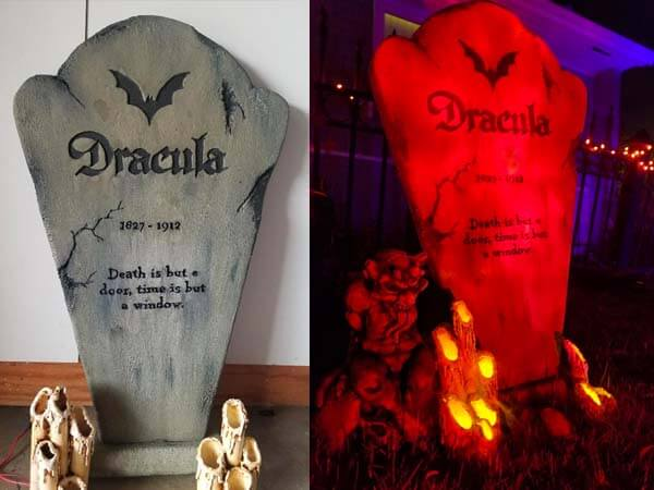 The Dracula tombstone