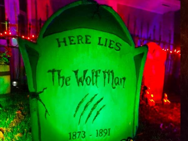 Wolf man tombstone
